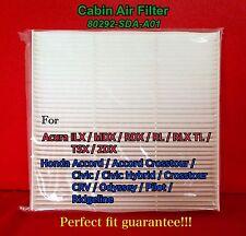 C35519 CABIN AIR FILTER ACCORD CIVIC CRV MDX RDX RL TL TSX 80292-SDA-A01