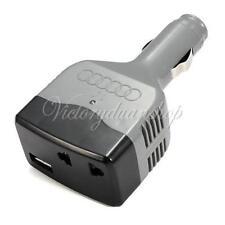 CHARGEUR CONVERTISSEUR POUR VOITURE 12 / 24 VOLTS VERS 220 V + USB 500 Ma