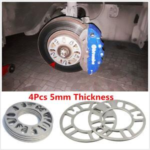 5mm 4Pcs Aluminum Alloy Tire Spacers Adaptor Shims for 4/5 Stud Wheel Fixings