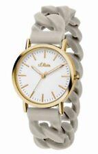 Relojes de pulsera de oro de goma para mujer
