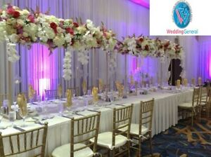 WeddingGeneral®'s Gold Tall Metal Flower Arch Bridge Arch For Table Centerpiece