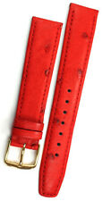 18mm echt STRAUß LEDER UHRENBAND Ostrich skin Leather made Germany Watch BAND