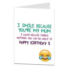 Happy Birthday Card For Mum Funny Joke Perfect For Mum's 40th 50th 60th 70th
