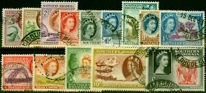 Southern Rhodesia 1953 Set of 14 SG78-91 Fine Used