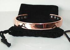 PURE COPPER Magnetic Bracelet Strong Magnets Pain Relief Detox & Balance CB