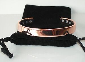 1 x PURE COPPER Magnetic Bracelet Strong Magnets Pain Relief Detox & Balance CB