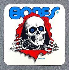 Powell Peralta Bones Ripper Skateboard Sticker 5in clear si