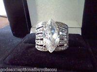 LCS* DIAMOND MARQUISE ENGAGEMENT WEDDING RING SZ 5 SZ 6 SZ 7 SZ 8 SZ 9 SZ 10