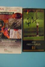 Fred Couples signed Masters Collection card  -  JSA