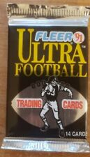 1991 Fleer Ultra NFL Football Packs Factory Sealed