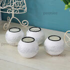 Antiqued Engraved Resin / Glass Candle Holder silver painted tea light Wedding s