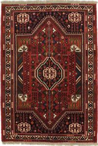 Vintage Handmade Small 3'6X5'2 Kitchen Foyer Oriental Rug Farmhouse Decor Carpet