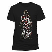 Official Nightmare On Elm Street T-shirt Come Out Play Freddy Krueger Wes Craven