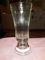 Vintage Madrid Crystal Clear Glass Candle Holder Vase