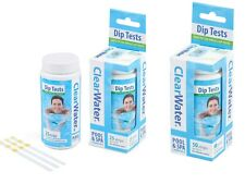 More details for clearwater dip test strips hot tub spa swimming pool water ph alkaline chlorine