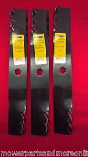 Set of 3 48 Inch John Deere Preditor Lawn Mower Blades Replaces GX21784 GY20852