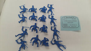 """Marx Recast PL-849B """"16 ACW Cavalry and Riders (Med Blue)"""" 1/32 Plastic Soldier"""