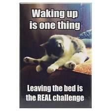 Waking Is One Thing Fridge Magnet Funny Decor Retro Novelty Kitsch Gift Humour