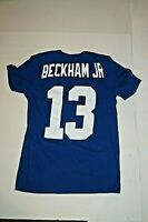 Nike Tee Odell Beckham Jr. New York Giants T Shirt Blue Mens Small EUC NFL