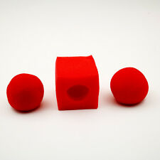 10set/lot Red Ball To Square Sponges Magic Tricks Set Funny Stage Magic Illusion