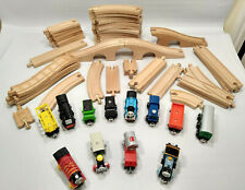 Wooden Train Track Lot Thomas Mixed lot 38 pieces & 12 cars engines