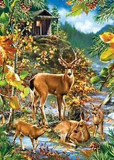 Jigsaw puzzle Animal Wild Deer Family Gathering 1000 piece NEW