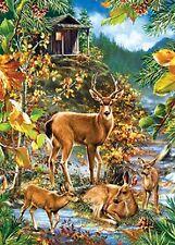 Jigsaw puzzle Animal Wild Deer Family Gathering 1000 piece NEW