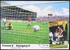Tuvalu 1986 World Cup Football Maximum Card France V Hungary #C49487