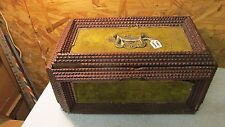Antique Tramp Art Jewelry Box