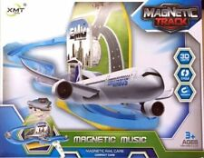 Airplane Magnetic Plane Track Set W/ Light Music Interactive Kids Toy
