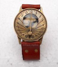 Antique Steampunk Wrist Brass Compass & Sundial-Watch Type Sundial Compass