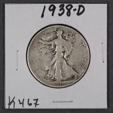 1938-D 50c WALKING LIBERTY HALF DOLLAR *KEY DATE COIN* LOT#K467