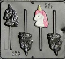 Unicorn Head Lollipop Chocolate Candy Mold 227 NEW