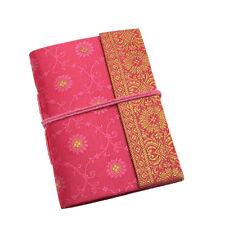 Fair Trade Handmade Mini Sari Fabric Notebook Diary Single Bound Pink