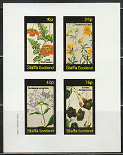 Souvenir sheet of 4 MNH stamps Tropical FLOWERS from Central & South America