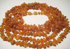 Wholesale 5pcs Raw Baby  Necklaces Baltic Amber  Knotted Between Each Bead