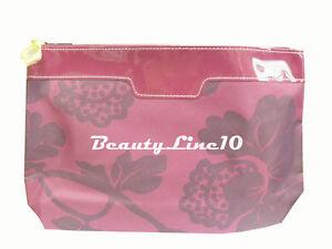 Estee Lauder Purple with Flowers Cosmetic Bag Zipper