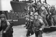WW2 - Photo - Renforcement de la tête de pont à Omaha Beach le 6 juin 44