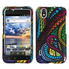 For Alltel LG Ignite HARD Protector Case Snap on Phone Cover Jamaican Fabric