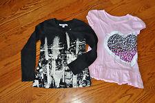 NWOT!!GIRLS Lot of 2 DKNY/GREENDOG T-SHIRT/Long Sleeve Tops Size 6-6X~CUTE~