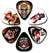 6 Evil Clown ~ Guitar Picks ~ Plectrums ~ Printed Both Sides