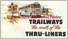 Billboard for Plasticville Holder Trailways Bus The Route of the  Thru-Liners