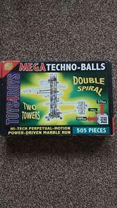 Mega Techno-balls Two Towers High-tech Perpetual-motion Power-Driven Marble Run