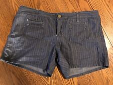 Gently Used Women's Gap Size 10 Striped Shorts Limited Edition Button Zip 30/10