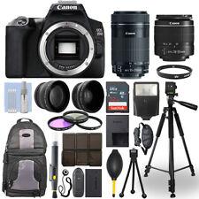 Canon EOS 250D / SL3 SLR Camera + 18-55mm + 55-250mm STM 4 Lens 32GB Valued Kit