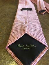 Paul Smith London Neck Tie Mens Red White Diamond Check 100% Silk Italy
