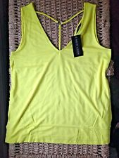 New Look Top Vest Size 8 Yellow Ring Back Cross Back Straps BNWT New With Tags