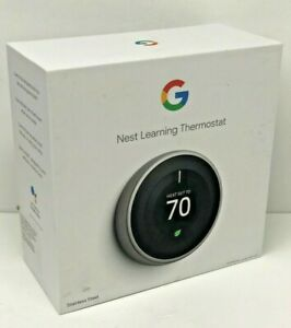 Google Nest 3rd Generation Learning Thermostat- Stainless Steel (T3007ES)