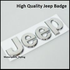 New Jeep Chrome Badge Rear Boot Tailgate Front Bonnet Sticker Emblem Decal (104)