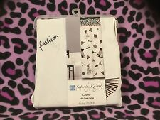 Saturday Knight Ltd Cosmo Fabric Shower Curtain Girly Black Dresses & Shoes NEW